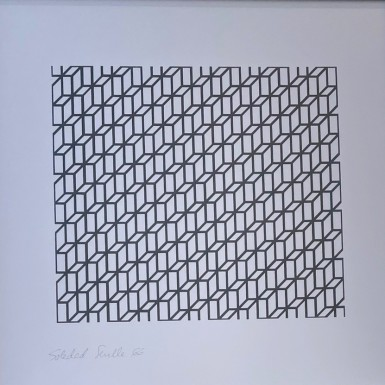 Sevilla, S/T 17 · 1966, impresión reprográfica sobre papel, 40 x 40 cm